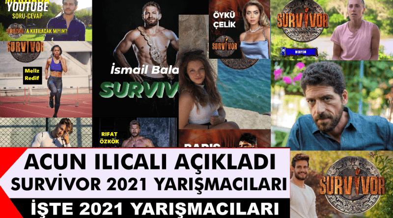 Survivor 2021 yarışmacıları belli oldu mu? Survivor yeni sezon tanıtım fragmanı yayınlandı mı? Yarışma TV8 ekranlarında ne zaman başlayacak? Survivor 2021 kadrosu açıklandı mı?